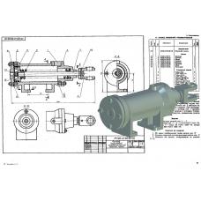 МЧ00.47.00.00 Привод поршневой пневматический (T-Flex CAD 3D 12)