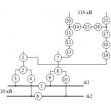 Схема узловой подстанции